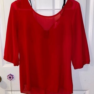 A'GACI size small red blouse